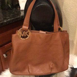 Michael Kors pebble brown leather bag, preowned